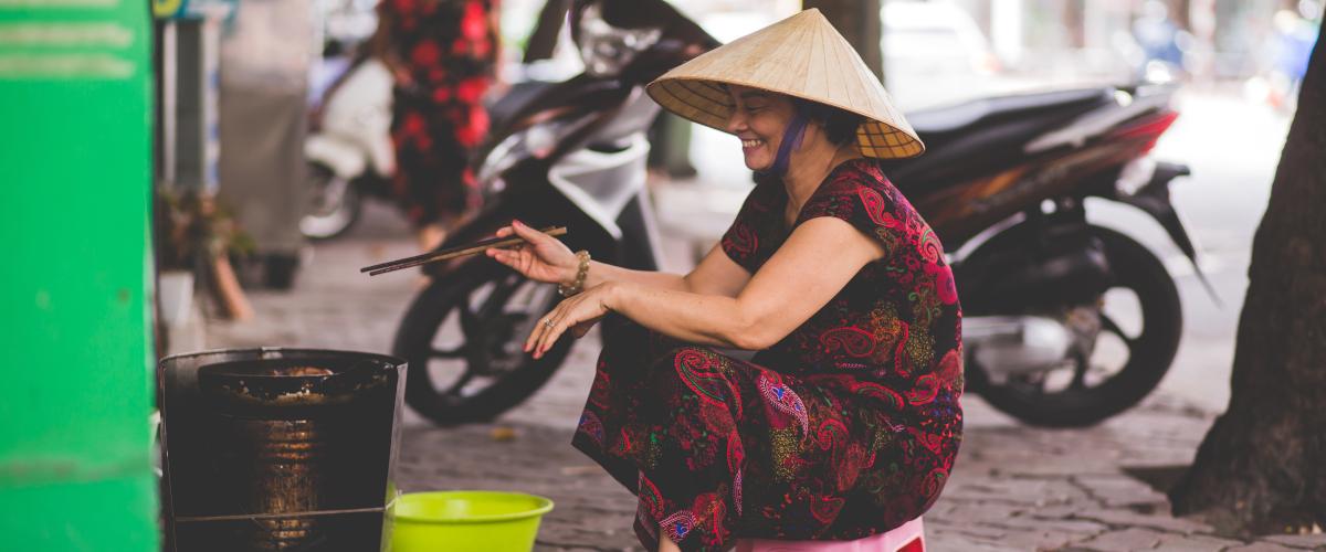 Le vieux quartier de Hanoi au Vietnam