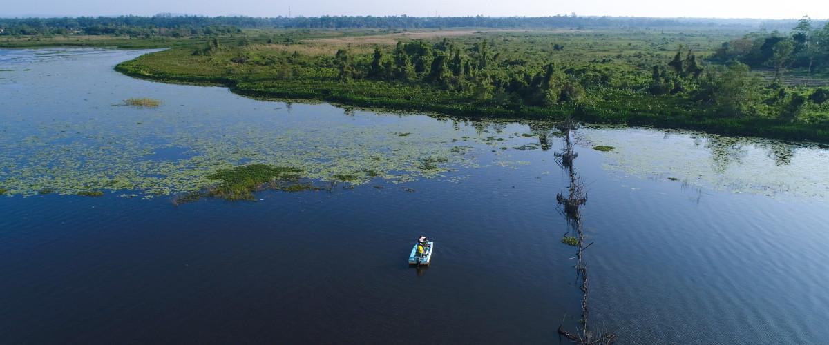 Lac de Bolgoda au Sri Lanka